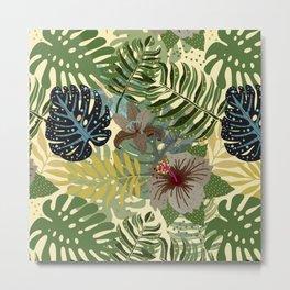 My abstract Aloha Jungle Garden Metal Print