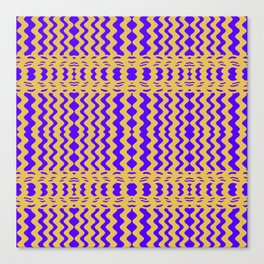 Bright Purple Yellow Wavy Lines Canvas Print