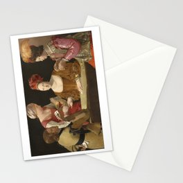 The Cheat with the Ace of Clubs Stationery Cards