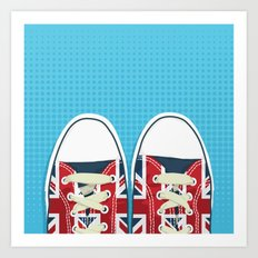Casual British Art Print
