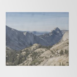 The Other Side of Half Dome Throw Blanket