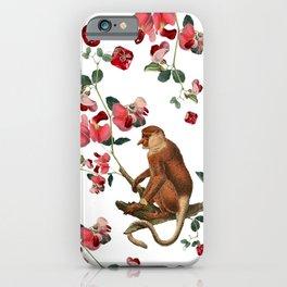 Monkey World: Nosy - White iPhone Case