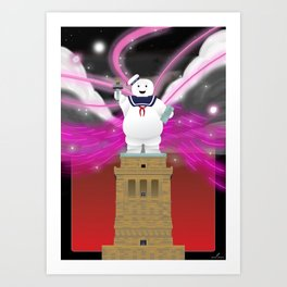 Statue of Stay Puft - Angry - Variant Art Print
