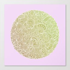 Detailed circle, gold rose Canvas Print