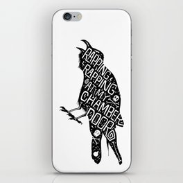 Rapping, Rapping At My Chamber Door iPhone Skin