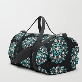 Blue Flower Mandala Duffle Bag