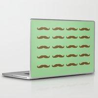 moustache Laptop & iPad Skins featuring Moustache  by Rjvita