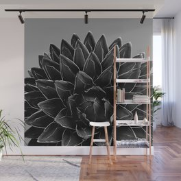 Gray Black Agave Chic #1 #succulent #decor #art #society6 Wall Mural