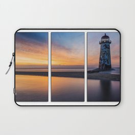 Sunset at the Lighthouse Tryptych Laptop Sleeve