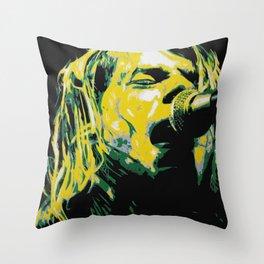 COBAIN UNPLUGGED Throw Pillow