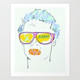 Rush! Art Print