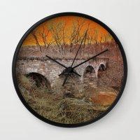 virginia Wall Clocks featuring Virginia Bridge by Andooga Design