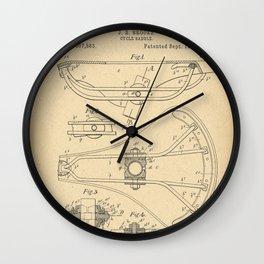 1896 Patent Bicycle saddle Wall Clock