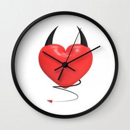 Devilish heart Wall Clock