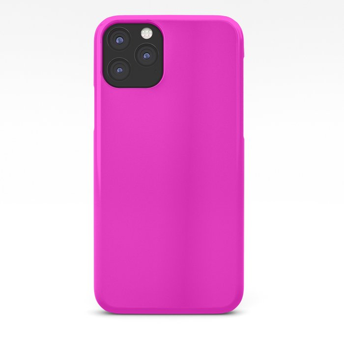 From The Crayon Box – Hot Magenta - Bright Neon Pink Purple Solid Color iPhone Case