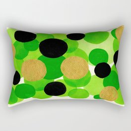 Lime Green Watercolor Bubbles Rectangular Pillow