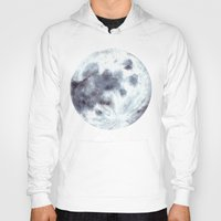 the moon Hoodies featuring Moon by Bridget Davidson