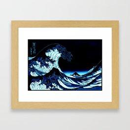 the Great Wave Blue Framed Art Print