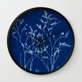 Limonium Cyanotype, Herbal Sunprint, Solar Herbalism Wall Clock