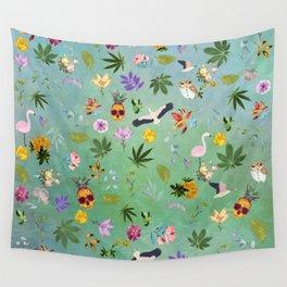 Flamingo Pineapple Pot Wall Tapestry