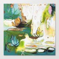 "flora bowley Canvas Prints featuring ""Rise Above"" Original Painting by Flora Bowley by Flora Bowley"