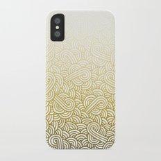 Gradient yellow and white swirls doodles iPhone X Slim Case