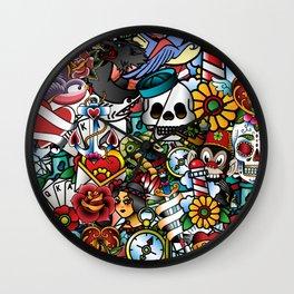 Tattoo Collage Wall Clock
