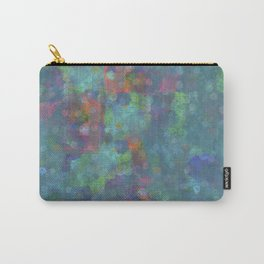 Blue and green abstract painting Carry-All Pouch