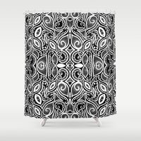 henna Shower Curtains featuring Henna Inspired by Sidrah  Mahmood
