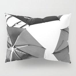 Black Umbrellas Pillow Sham