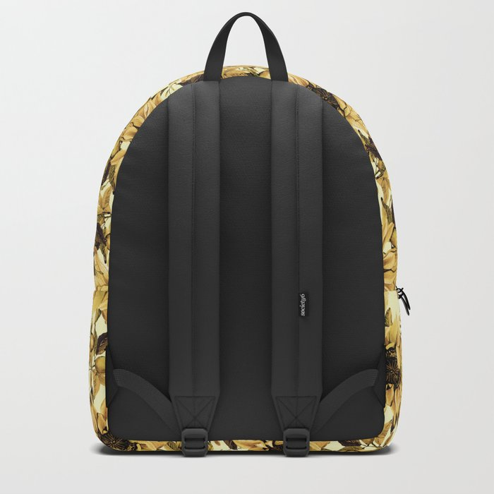 Sunflowers on Yellow Backpack