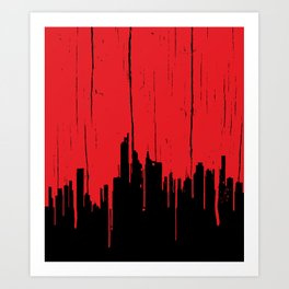 Paint it Red Art Print