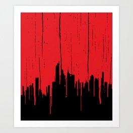 Paint it Red Art Print