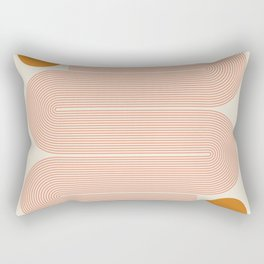Abstraction_SUN_LINE_ART_Minimalism_002 Rectangular Pillow