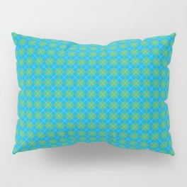Argyle Pattern | Scottish Patterns | Blue and Green | Pillow Sham
