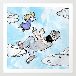 Je t'aime fort comme le ciel Art Print