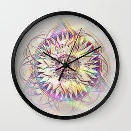 Aleph Mandala Wall Clock
