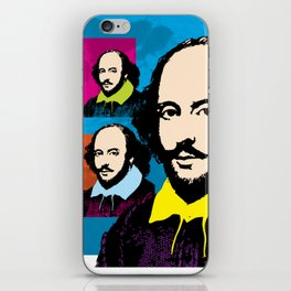 WILLIAM SHAKESPEARE (FUNKY-COLOURS MONTAGE) iPhone Skin