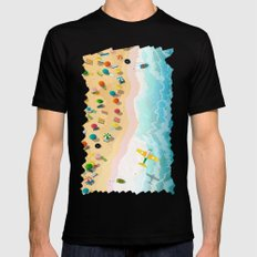 Summer Days Mens Fitted Tee MEDIUM Black