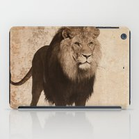 decal iPad Cases featuring Lion by haroulita