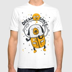 Dream in space White Mens Fitted Tee SMALL