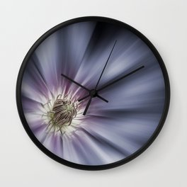 Blue Satin Wall Clock