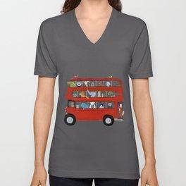 the big little red bus Unisex V-Ausschnitt