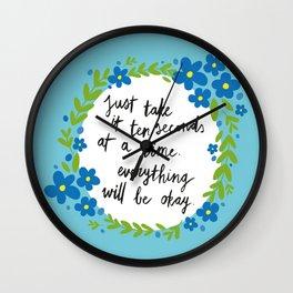 Ten Seconds - Blue Wall Clock