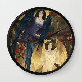 Sirin And Alkonost Wall Clock