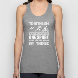 Triathlon Triathlete Unisex Tank Top