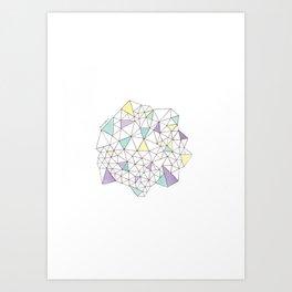 Triangles N2 Art Print