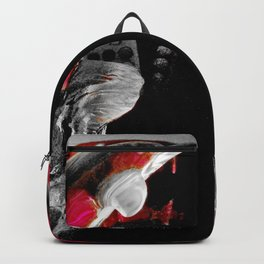 Red Dolphins Glass Fantasy Backpack