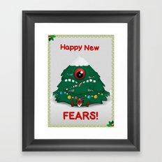 Happy New Fears Framed Art Print