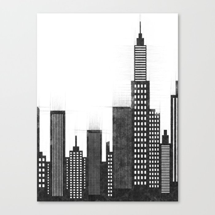 8ccbd8f3616 Modern City Buildings And Skyscrapers Sketch